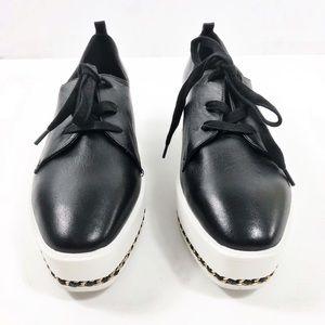 Karl Lagerfeld Black Sz 10 Brea Platform Sneakers
